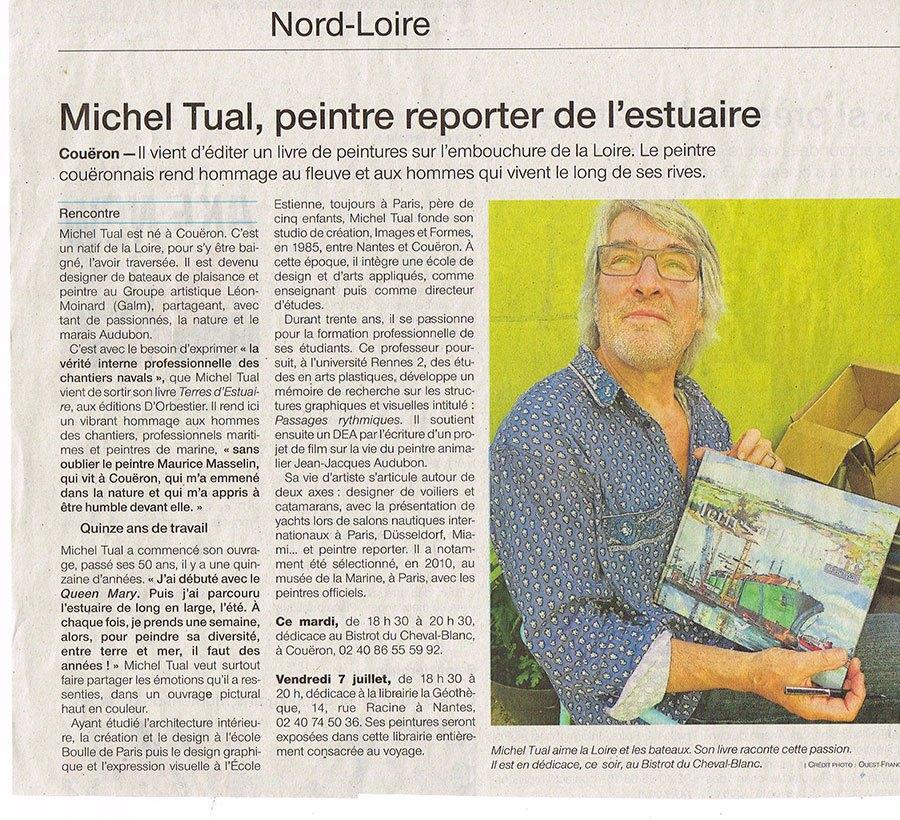 Michel Tual, peintre reporter de l'estuaire