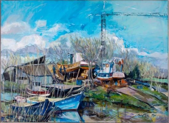 michel-tual-peinture-L-etier-de-Dareau-1