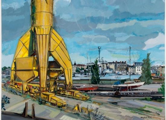 michel-tual-peinture-Lagrue-Titan-jaune-1