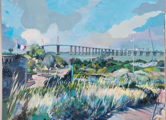 michel-tual-peinture-Le-Pont-de-St-Nazaire-1