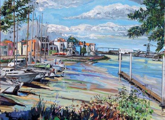 michel-tual-peinture-Le-port-de-Trentemoult-1