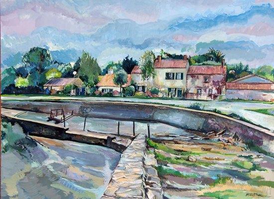 michel-tual-peinture-le-port-de-la-maison-verte-1