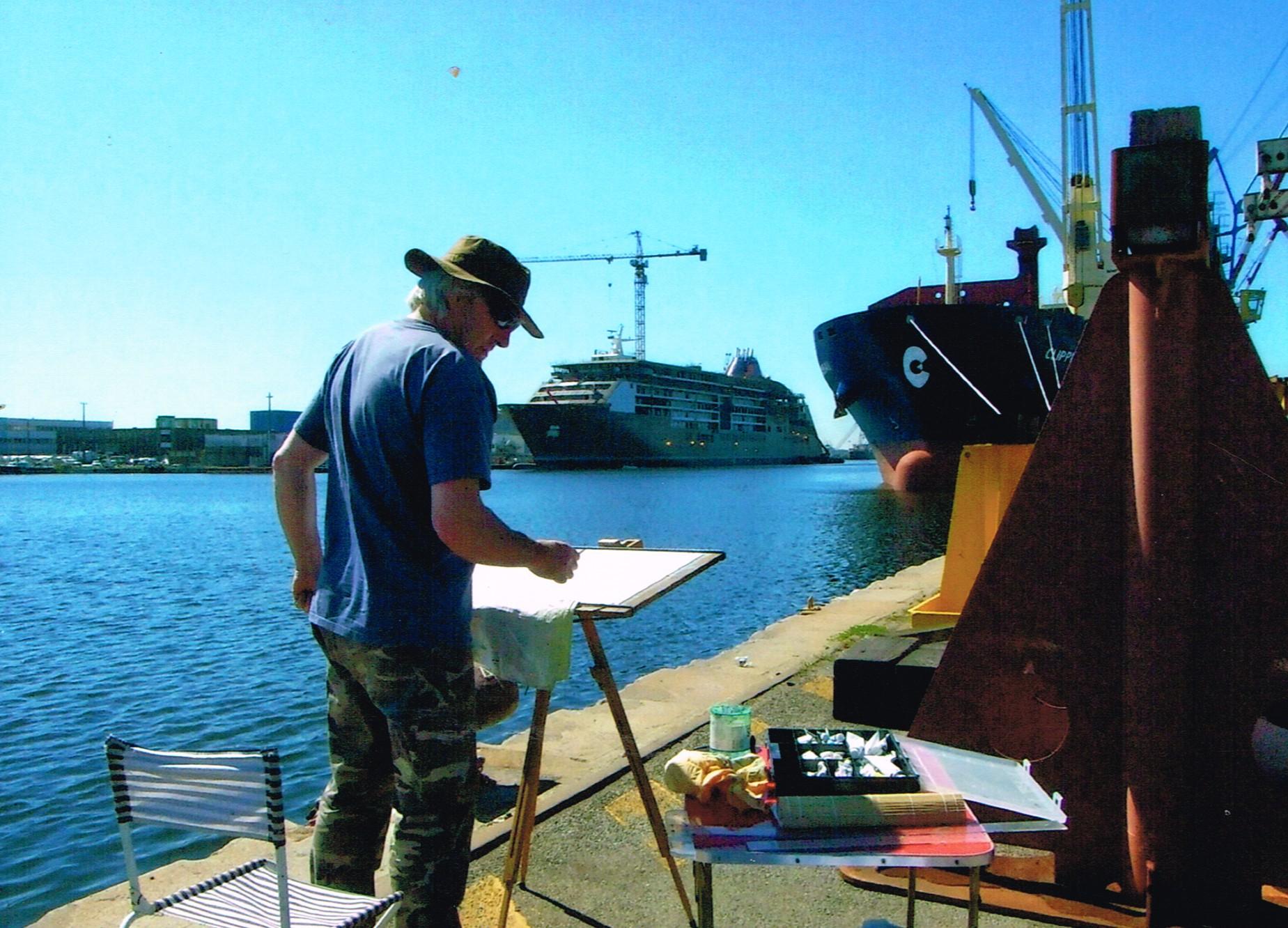 Michel Tual dans le port