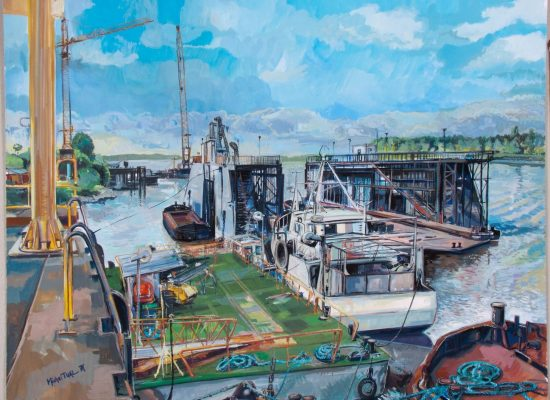 Peinture Chantier du Port Autonome - Michel Tual