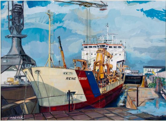 Peinture Ladrague Rene Gibert - Michel Tual