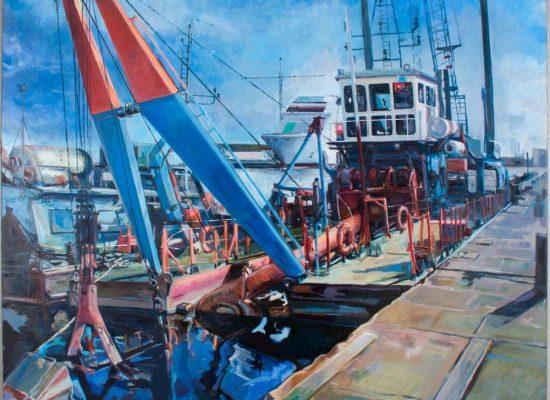 Peinture Barge de servitudes - Michel Tual