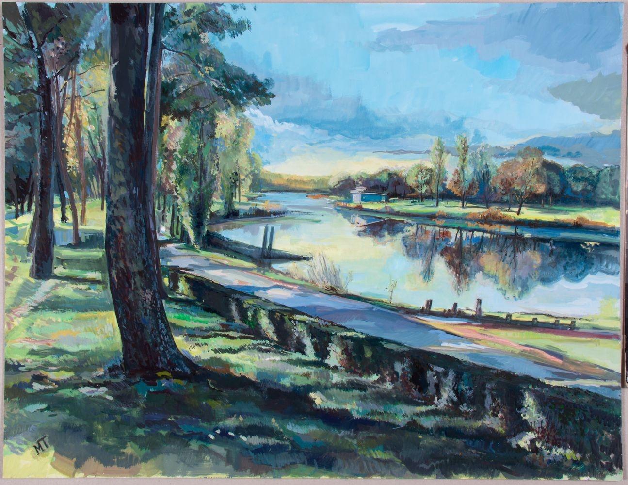 Peinture Canal de la Basse Loire - Michel Tual
