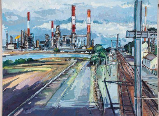 Peinture La Raffinerie - Michel Tual