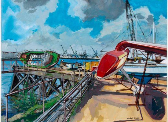 Peinture Le Chantier de l'Esclain - Michel Tual