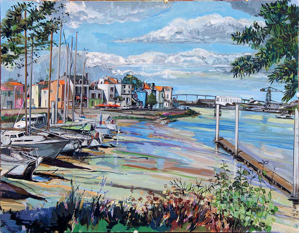 Peinture Le port de Trentemoult - Michel Tual