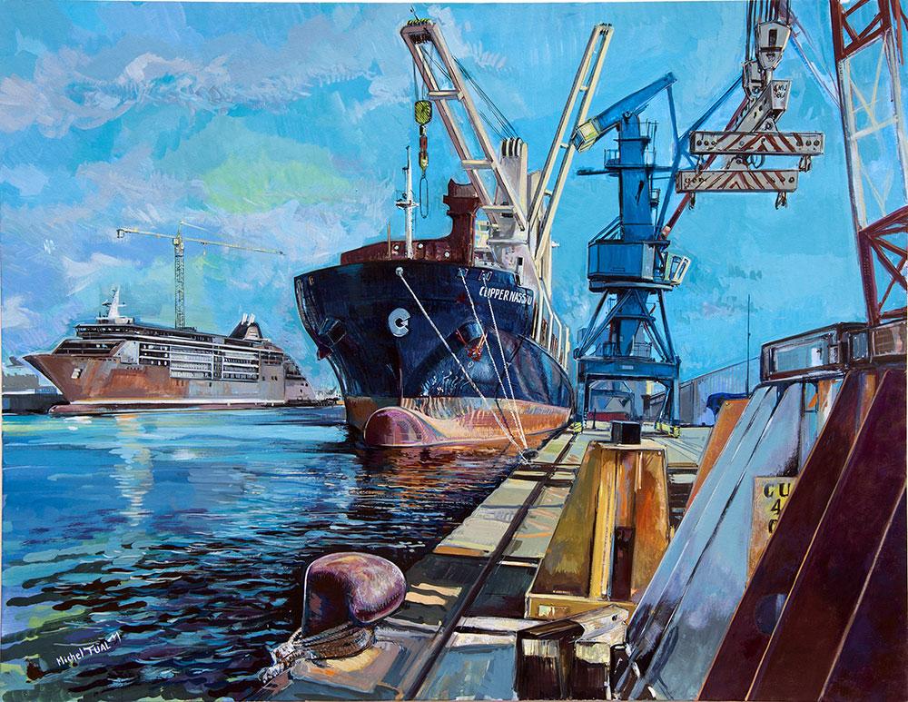 Peinture Clipper Nassau Europa 2 - Michel Tual