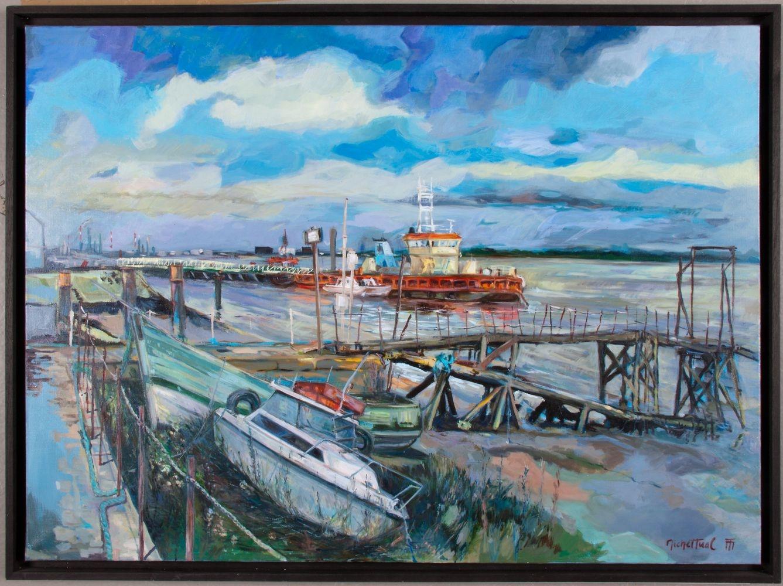 Peinture le Miloin Amarré - Michel Tual