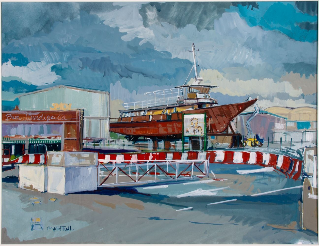Peinture Transport de Passagers - Michel Tual