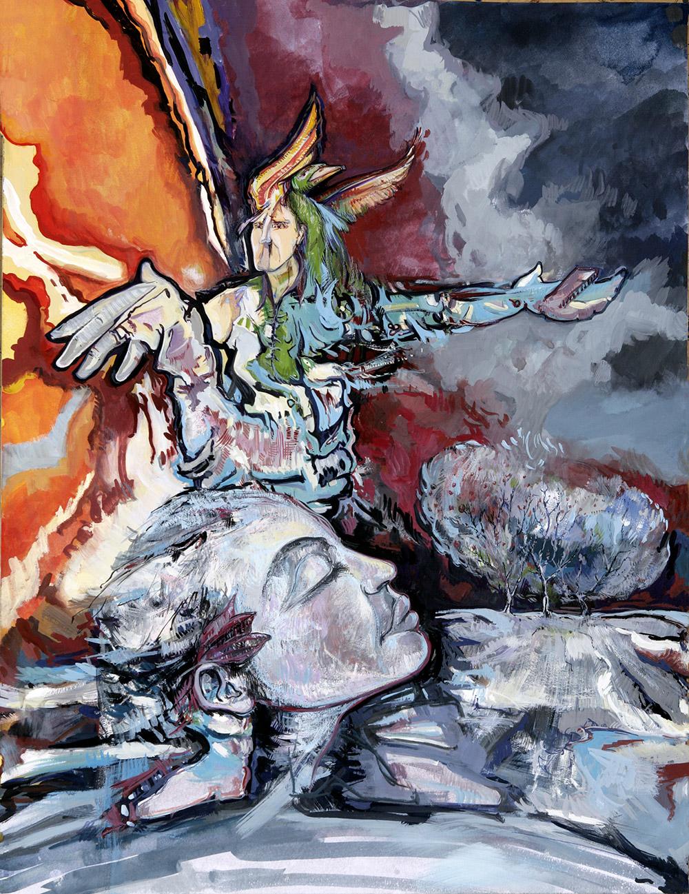 "Peinture ""20 ans Raphaël"" - Michel Tual"