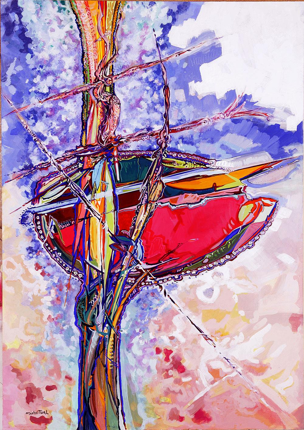 Peinture Terre Féconde - Michel Tual