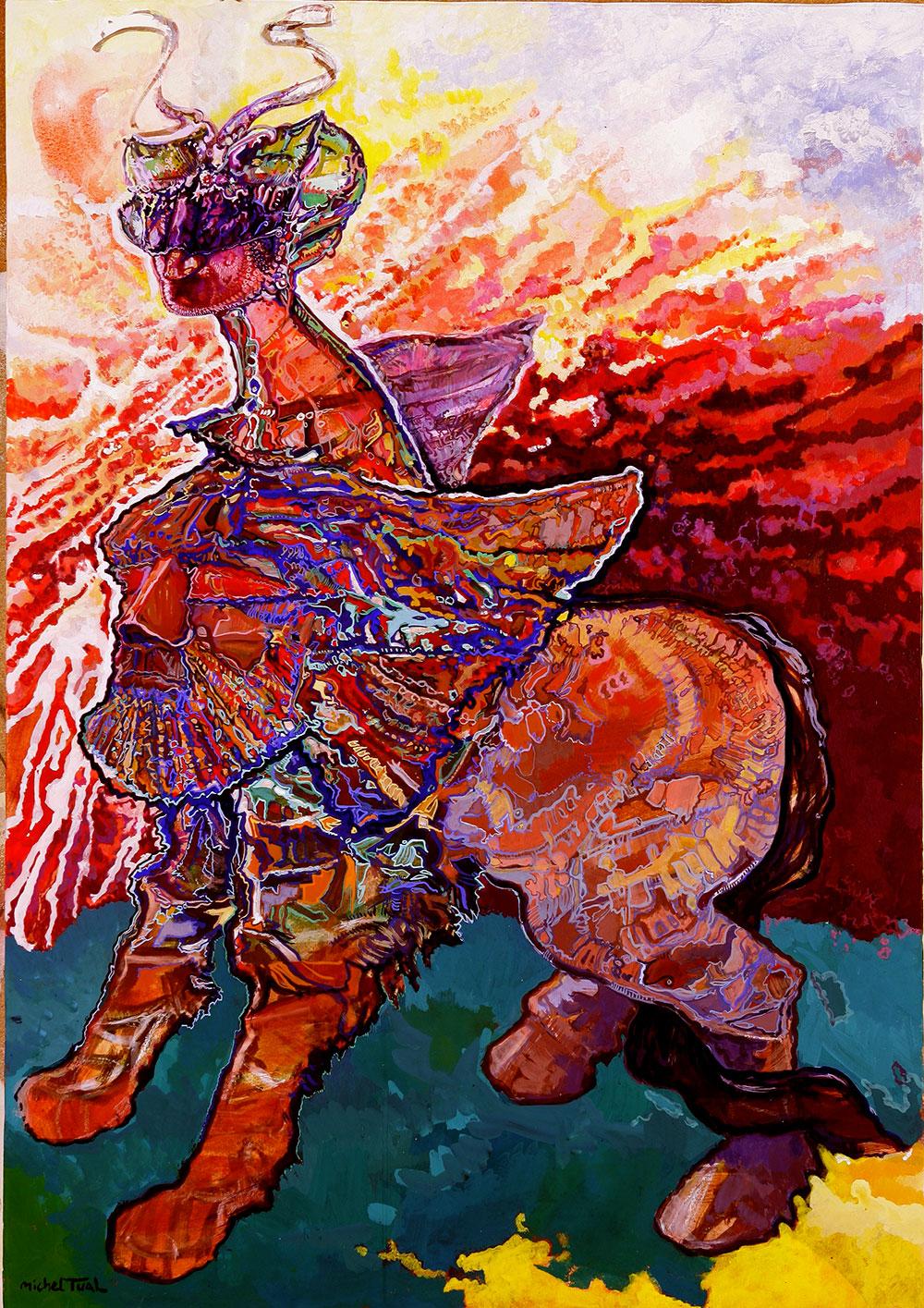 Peinture Yeux Rouges - Michel Tual
