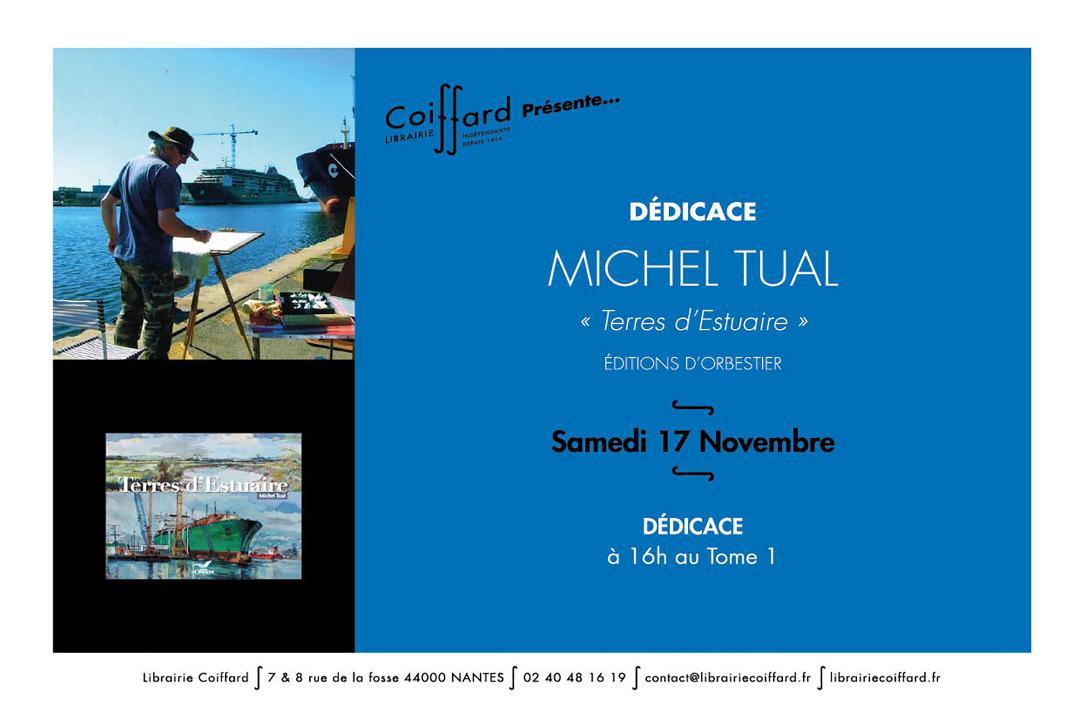 Michel Tual - Dédicace Librairie Coiffard Nantes